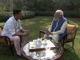 पंतप्रधान मोदी मुलाखत