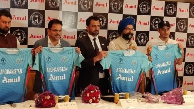 आयसीसी विश्वचषक २०१९ स्पर्धेसाठी अमूल अफगाणिस्तान क्रिकेट संघाचा अधिकृत प्रायोजक (Amul Twitter)