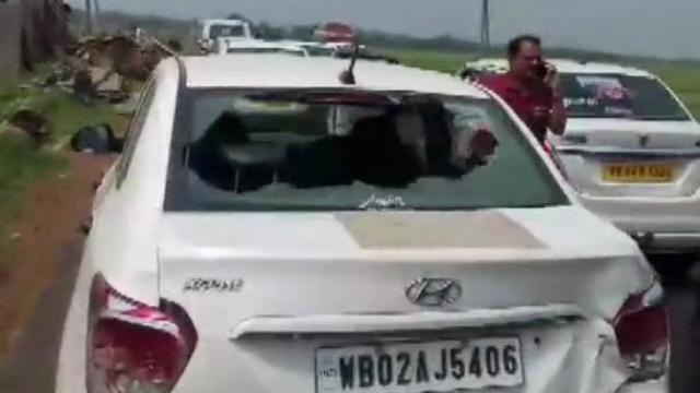 पश्चिम बंगालमध्ये भाजपच्या उमेदवारावर हल्ला