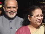 नरेंद्र मोदी आणि सुमित्रा महाजन