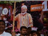 महाराष्ट्रात भाजप आघाडीवर आहे. (छायाचित्रः विजयानंद गुप्ता, मुंबई)