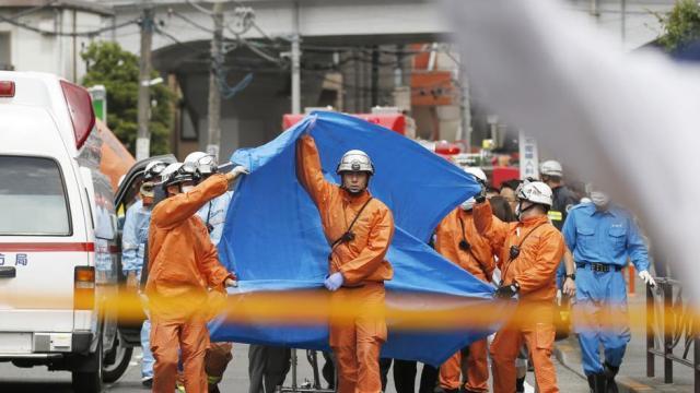 जपानमध्ये एकाने २० जणांना भोसकले (AP)