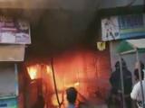 नालासोपारा येथील जाधव मार्केटमध्ये आग (ANI)