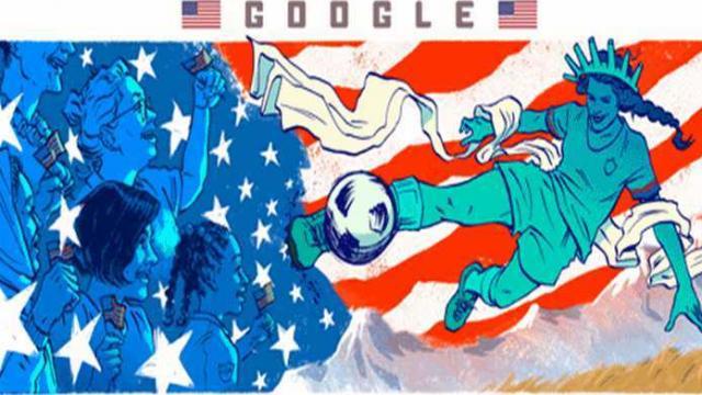 गुगल डुडलच्या माध्यमातून ट्रेंड होतोय महिला फुटबॉल फिव्हर