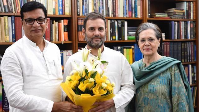 बाळासाहेब थोरात, सोनिया गांधी, राहुल गांधी