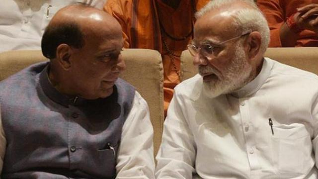 पंतप्रधान नरेंद्र मोदी आणि राजनाथ सिंह
