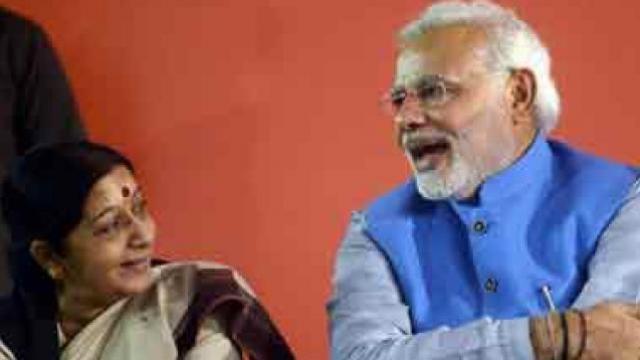 सुषमा स्वराज आणि पंतप्रधान नरेंद्र मोदी