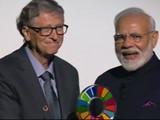 'स्वच्छ भारत अभियान'साठी मोदींना ग्लोबल गोलकीपर्स पुरस्कार प्रदान (ANI / Twitter)