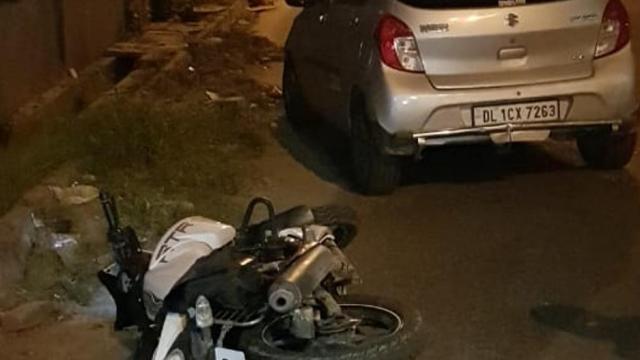 दिल्लीत गोळीबारानंतरचे घटनास्थळाचे छायाचित्र