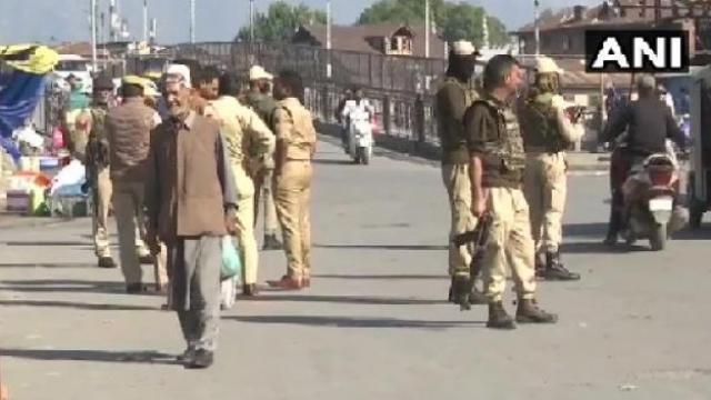 जम्मू-काश्मीरः श्रीनगरमधील लाल चौकाजवळ ग्रेनेड हल्ला (ANI)