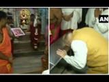 कोल्हापुरात अंबाबाईचे दर्शन घेताना अमित शहा (ANI)
