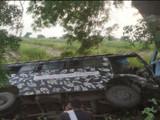 बीडमध्ये पोलिसांच्या गाडीला अपघात