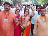 विजयानंतर मुक्ता टिळक यांची प्रतिक्रिया (फोटो - राहुल राऊत)