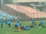बांगलादेशच्या खेळाडूंनी तोंडाला मास्क बांधून केला सराव