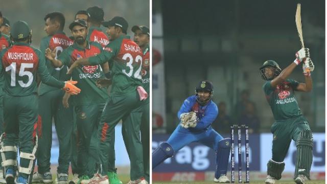 बांगलादेशने तीन सामन्यांच्या टी-२० मालिकेत १-० अशी आघाडी घेतली आहे.