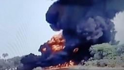 नागपूर-अमरावती महामार्गावर अपघात, टँकर जळून खाक!