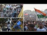 दिल्लीतील जवाहरलाल नेहरू विद्यापीठाच्या (JNU) विद्यार्थ्यांनी सोमवारी संसदेवर मोर्चा काढला.