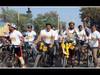 सायकल फेरीसह उत्साहपूर्ण घोषणांनी दणाणले उस्मानाबाद शहर