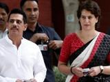 रॉबर्ट वाड्रा आणि प्रियांका गांधी
