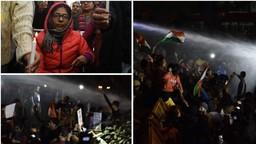 UnnaoRape Case: दिल्लीतील कँडल मार्चवर पोलिसांकडून पाण्याचा मारा