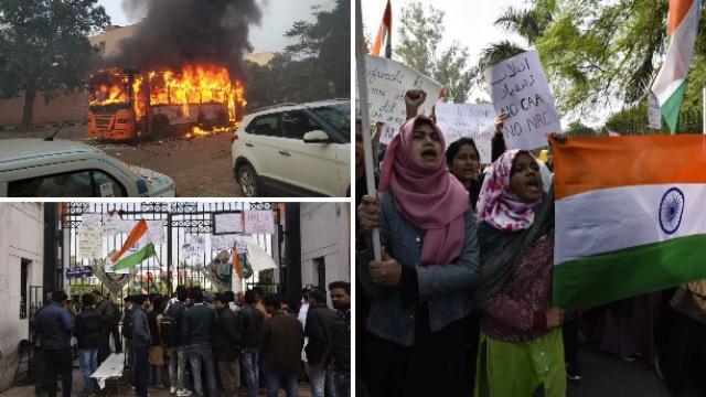 नागरिकत्व सुधारणा कायद्याविरोधात दिल्लीतही आंदोलन पेटले आहे.