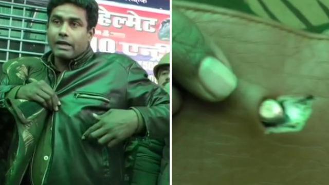 CAA Protest: बुलेटप्रूफ जॅकेट नव्हे पाकिटातील नाण्यांमुळे कॉन्स्टेबलचा जीव वाचला (ANI)