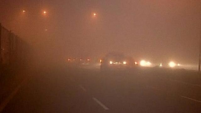 दिल्लीत धुक्यांमुळे अपघात
