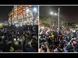 जेएनयू हिंसाचारः मुंबईत मध्यरात्रीपासून विद्यार्थांचे आंदोलन (Ht photo by Anshuman poyrekar)