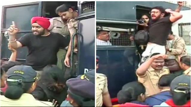 JNU हिंसाचारः गेट वे ऑफ इंडिया येथून आंदोलकांची आझाद मैदानावर रवानगी