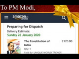 काँग्रेसने PM मोदींना पाठवली संविधानाची प्रत