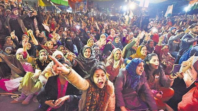 दिल्लीत शाहिन बागमध्ये सुरू असलेले आंदोलन