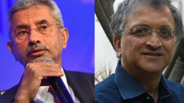 परराष्ट्र मंत्री एस जयशंकर आणि रामचंद्र गुहा