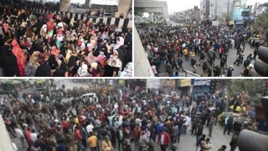 शाहिनबागनंतर दिल्लीतील जाफराबादमध्ये सीएएविरोधात आंदोलन
