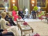 राष्ट्रपती भवनातील कार्यक्रमाने ट्रम्प यांचा भारत दौरा सफल