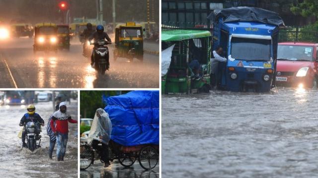 शुक्रवारी सायंकाळच्या सुमारास अचानक मुसळधार पाऊस पडला. photo by rajkraj
