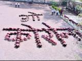 सोलापूर जिल्ह्यातील पापरीच्या शाळेतील विद्यार्थ्यांकडून हटके संदेश