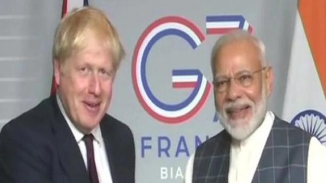 पंतप्रधान बोरिस जॉनसन आणि नरेंद्र मोदी (संग्रहित छायाचित्र)